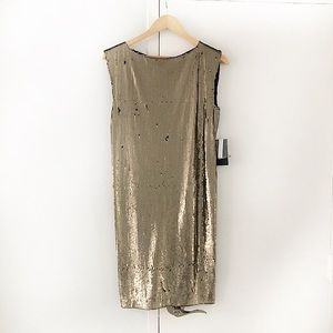 ALICE + OLIVIA metallic gold sequin dress NWT